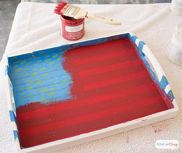Instruction #2 - painted-chalky-finish-american-flag-tray-3