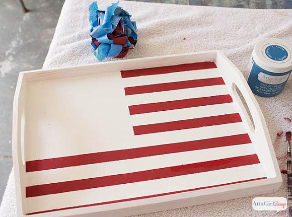 Instruction #3 - painted-chalky-finish-american-flag-tray-4
