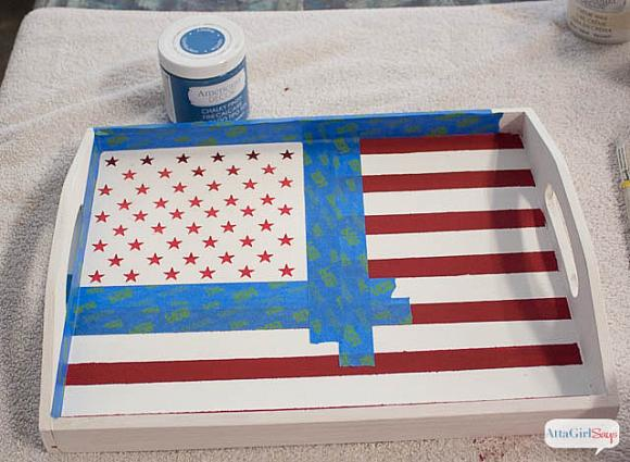 Instruction #4 - painted-chalky-finish-american-flag-tray-5