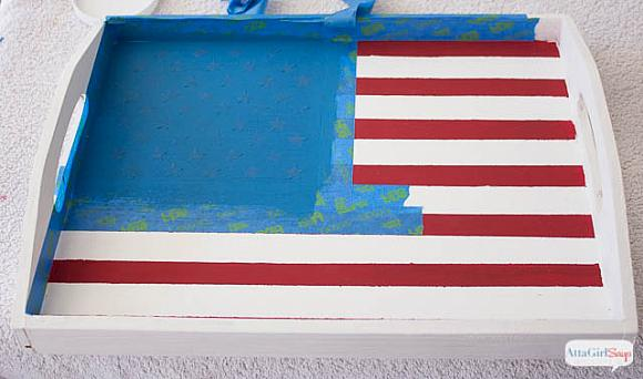 Instruction #5 - painted-chalky-finish-american-flag-tray-6
