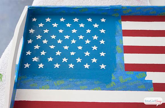 Instruction #6 - painted-chalky-finish-american-flag-tray-7