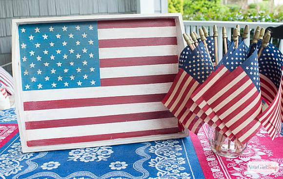 Instruction #8 - painted-chalky-finish-american-flag-tray-9
