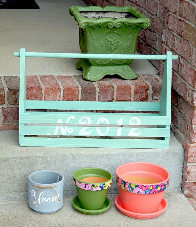 Instruction #8 - painted-planters