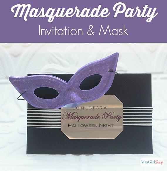 DecoArt Blog Crafts Masquerade Party Invitation and Mask