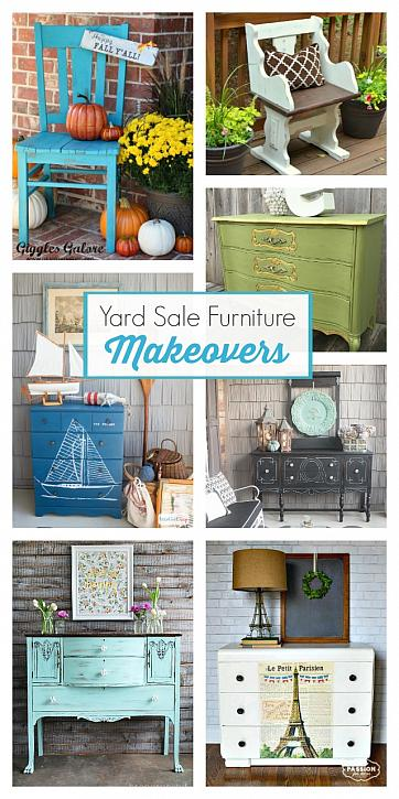 Yard Sale Furniture Makeovers