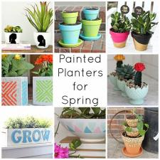 Painted Planters for Spring