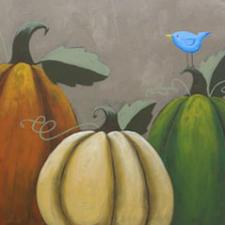 Rustic Pumpkin Canvas Painting