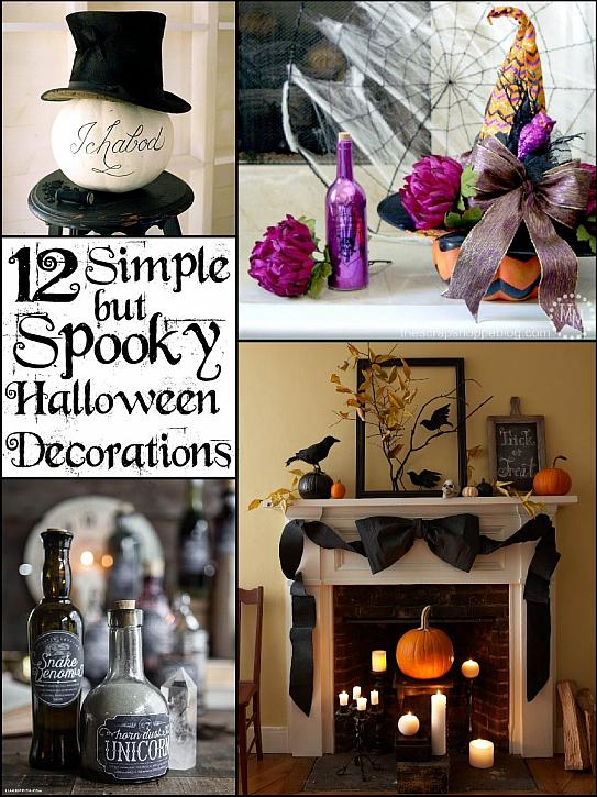 Decoart blog entertaining simple spooky halloween for Scary halloween decorations to make at home