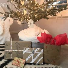 DIY Birch Wrapping Paper
