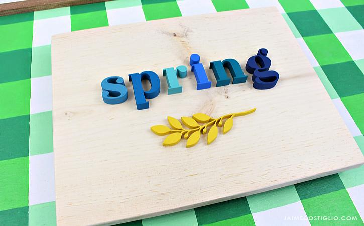 Wooden Spring Sign