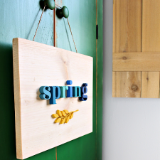 Wooden Spring Sign by Jaime Costiglio