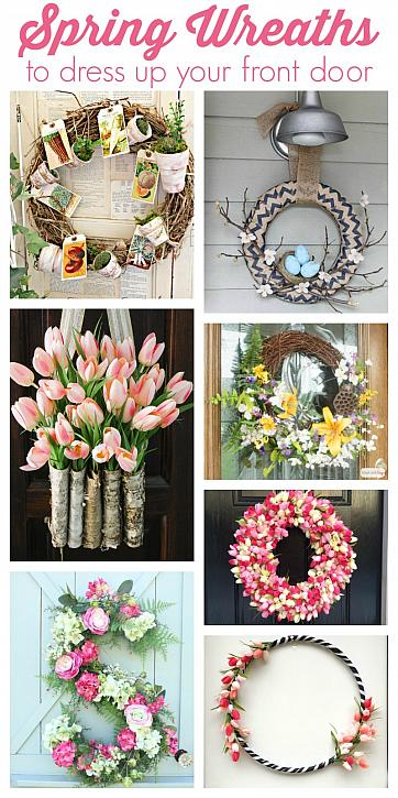 Spring Wreaths To Dress Up Your Front Door