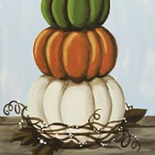 Stacked Pumpkins Canvas Painting