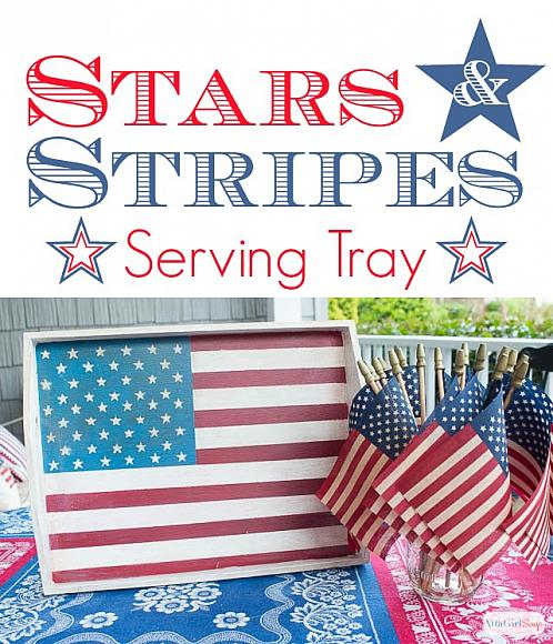 Stars and Stripes Serving Tray