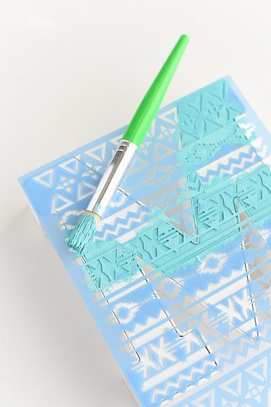 Instruction #2 - stenciled monogram