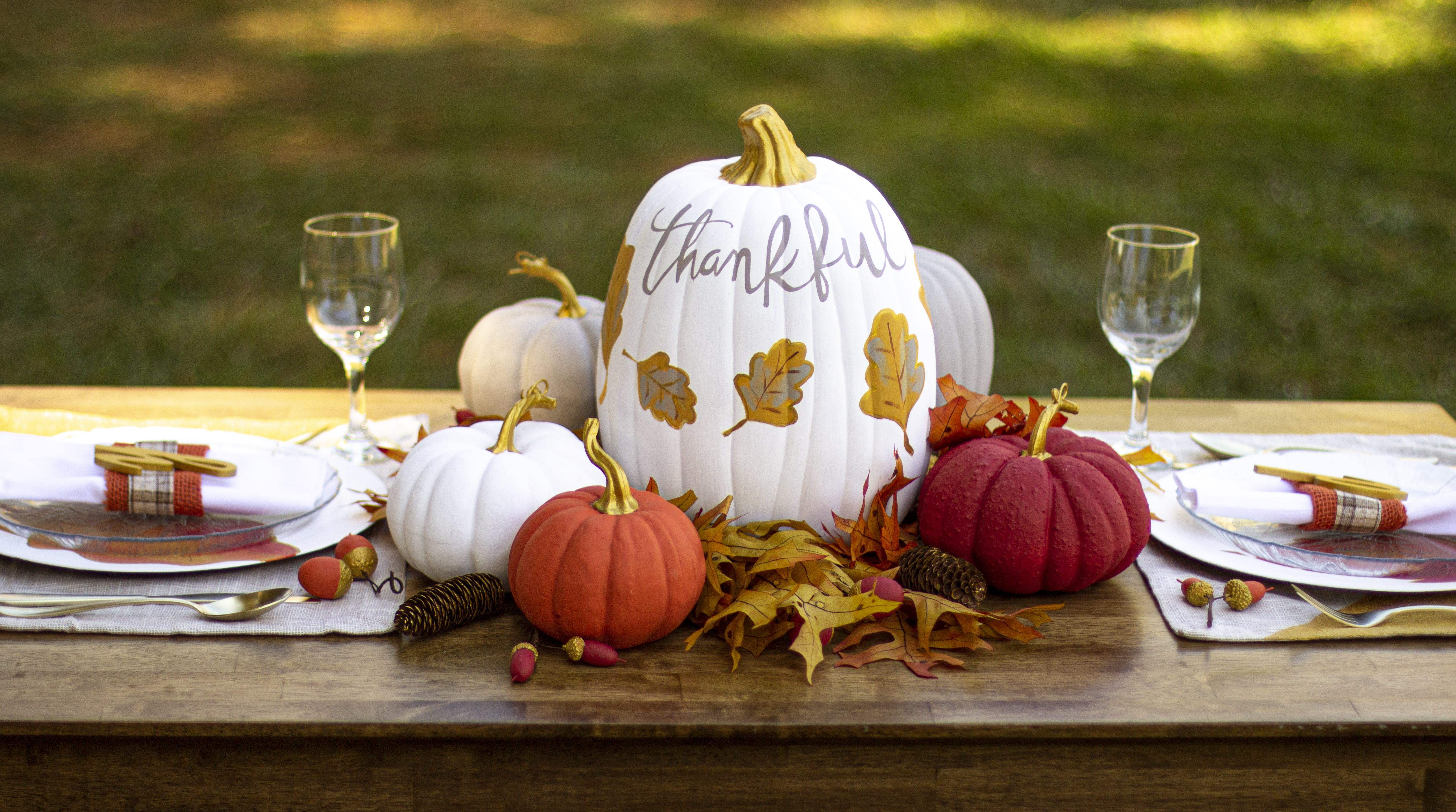 Thankful theme tablescape