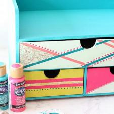 Glittery Color Block Desk Organizer