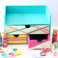 Glittery Color Block Organizer by Mariah Leeson