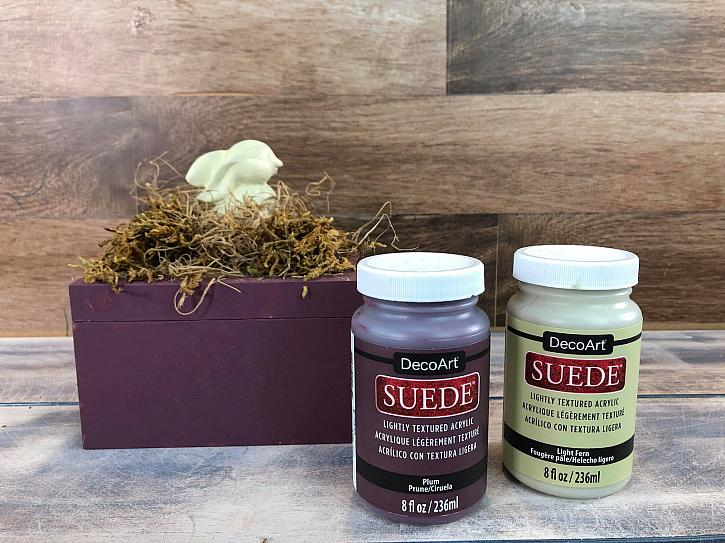 DecoArt Suede Spring Box