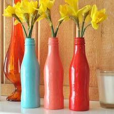 Upcycled Bottle High Gloss Spring Vases