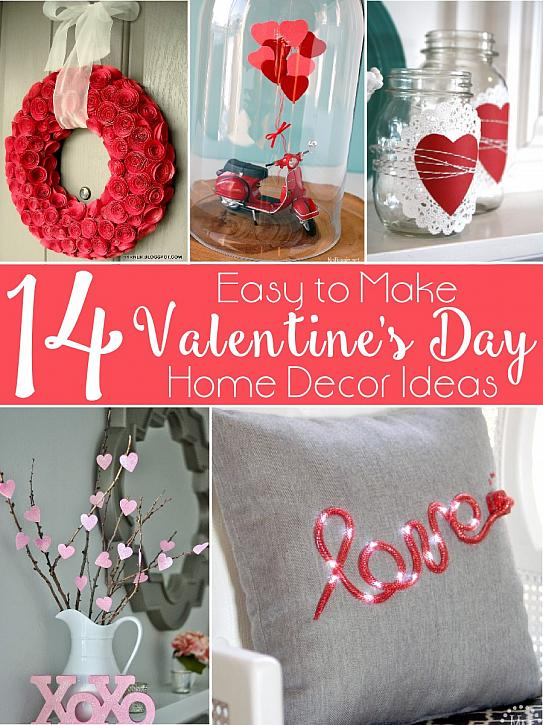 decoart blog - crafts - 14 valentine's day home decor ideas