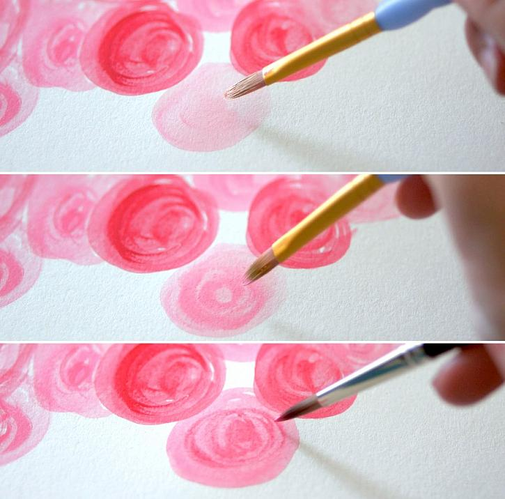 Instruction #2 - watercolor-rose