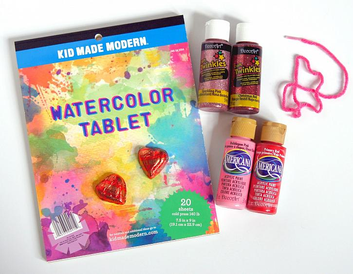 Instruction #1 - watercolor-valentine-supplies