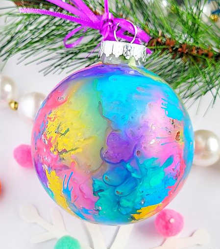 Watercolor christmas ornament