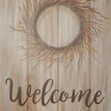 Welcome Wreath Canvas Painting