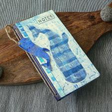 Whale-Themed Mixed Media Notebook