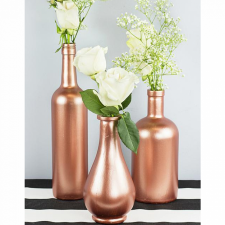 Rose Gold Wine Bottle Décor