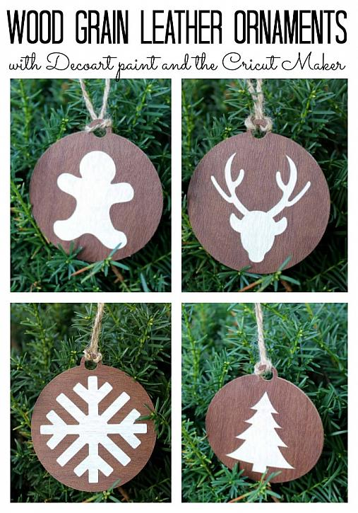 Wood Grain Leather Ornaments