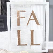 Metallic Rustic Fall Sign by Lydia Nordhoff
