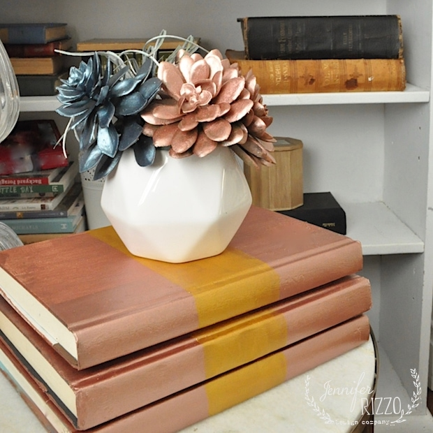 DIY Decorative Books & Succuelent