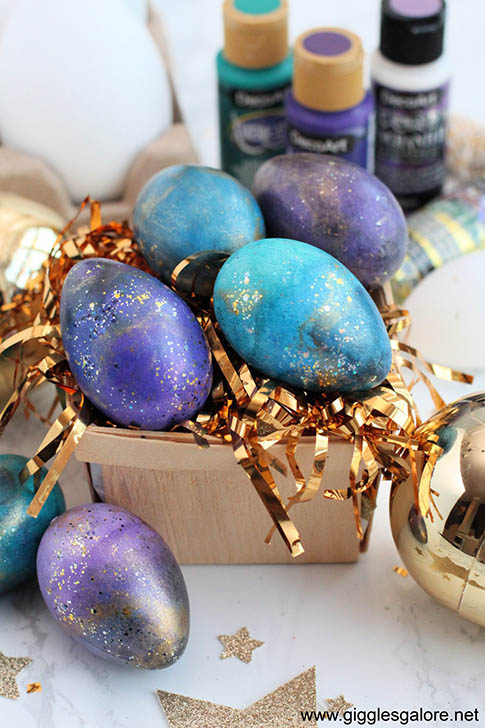 Shimmering Decorated Easter Eggs