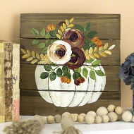 Fall Floral Pumpkin Painting
