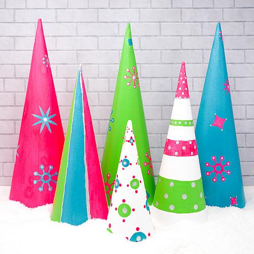 Merry & Bright Holiday Cones