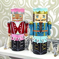 Upcycled Nutcracker Canister - Made from a Pringles Can!