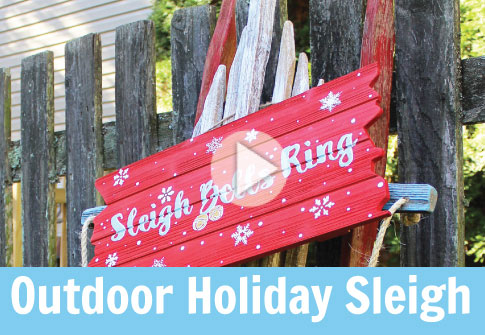 Vintage Sled Outdoor Christmas Decor