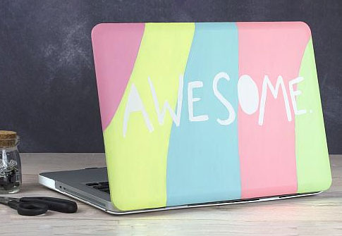 Awesome Neon Striped Laptop Case