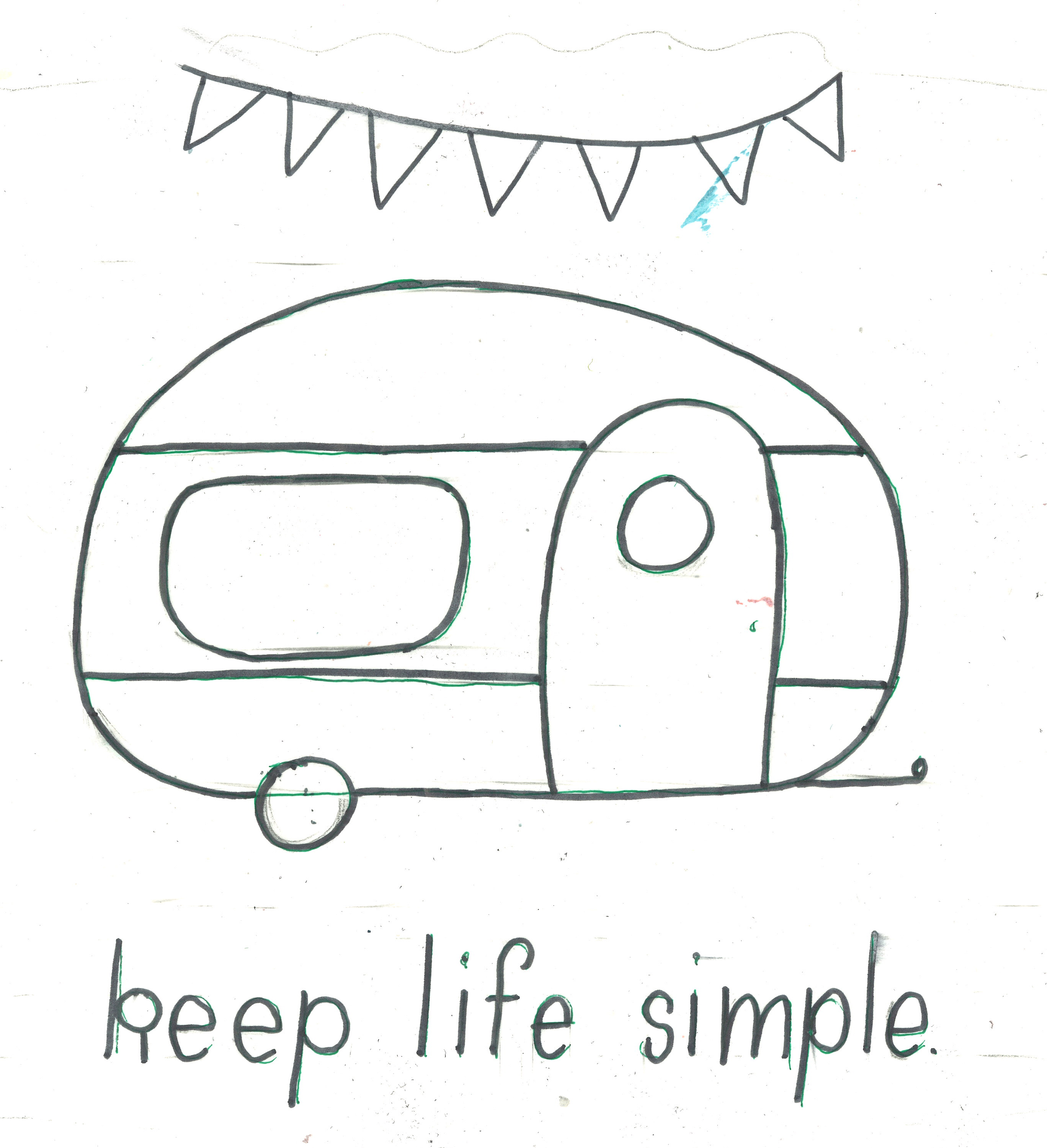 Keep Life Simple Camper Sign Project By Decoart