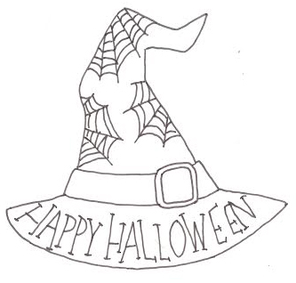 Happy Halloween Witch Hat Cut Out Project By Decoart
