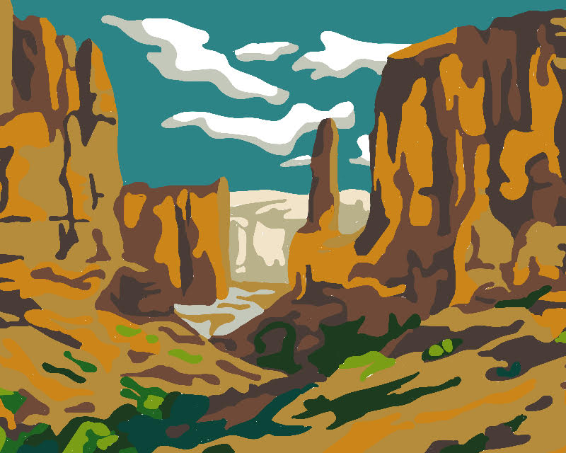 Grand Canyon Paint By Number Project By Decoart