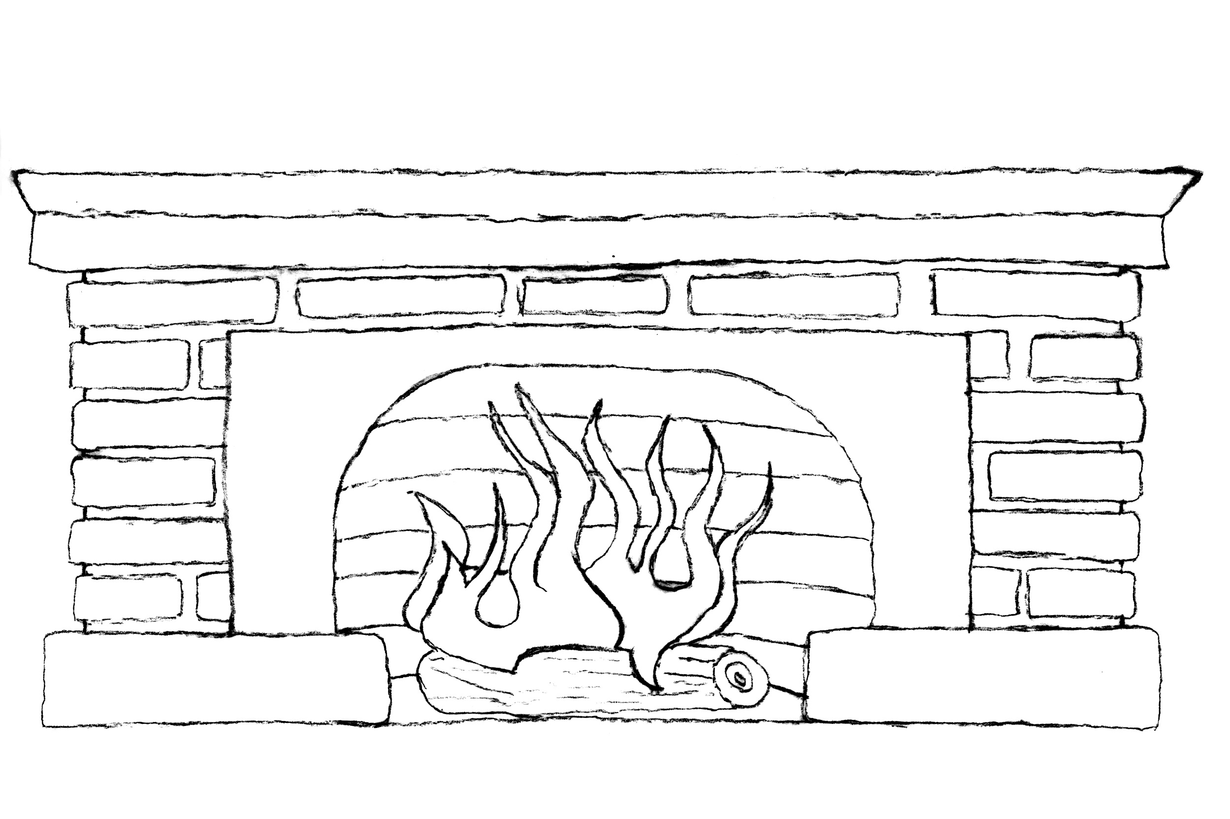 clipart fireplace fire - photo #40