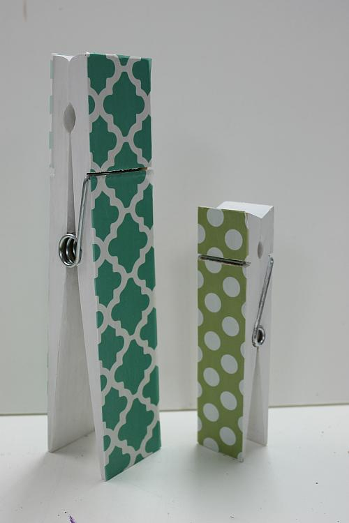 Giant Decoupage Clothespin Photo Holders Project By Decoart