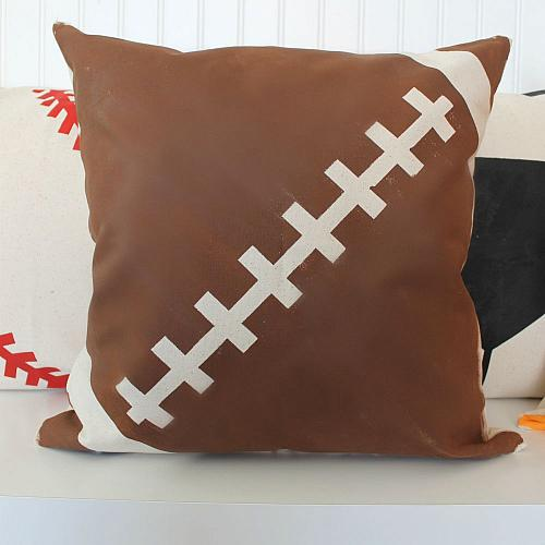 sports gear painted pillows