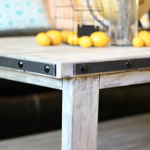 ... Coffee Table And Tack Them On Using Decorative Black Tacks Through Each  Of The Previously Marked Holes. (Be Careful Not To Bend The Tacks As They  Are ...