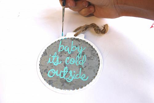 Quot Baby It S Cold Outside Quot Metal Ornament Project By Decoart