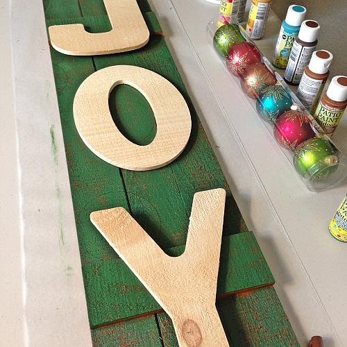 Wooden Joy Outdoor Holiday Sign Project By Decoart