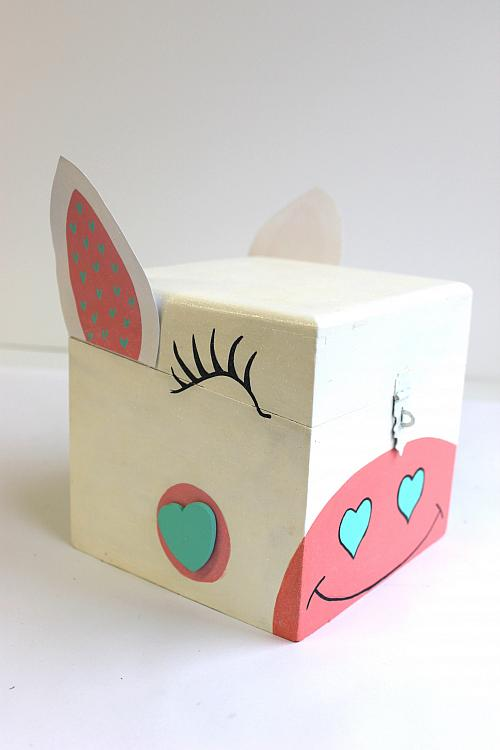 Painted Unicorn Valentine Card Box Project By Decoart